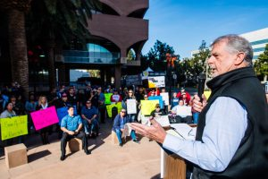 TCU rallies in Riverside to save jobs, stop outsourcing